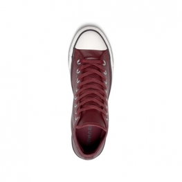 Кеды (Оригинал) Converse Chuck Taylor All Star Leather Высокие Бордовые (Dark Burgundy)