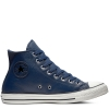 Кеды (Оригинал) Converse Chuck Taylor All Star Leather, Высокие, Синие (Navy)