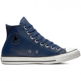 Кеды (Оригинал) Converse Chuck Taylor All Star Leather Высокие Синие (Navy)