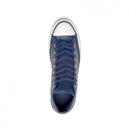 Кеды Converse ® Оригинал Синие Высокие — Мужские Кожаные Конверсы — 161495C