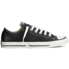 Кеды (Оригинал) Converse Chuck Taylor All Star Leather Низкие Чёрные (Black)