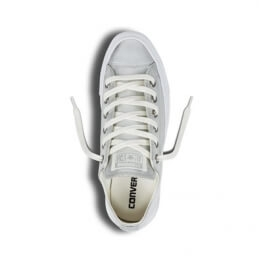 Кеды (Оригинал) Converse Chuck Taylor All Star Leather Низкие Серебро (Pure Silver)