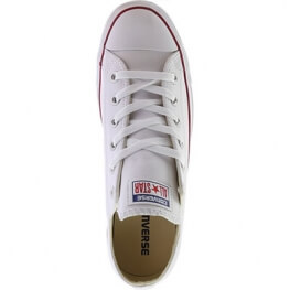 Кеды (Оригинал) Converse Chuck Taylor All Star Leather Низкие Белые (White)