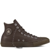 Кеды (Оригинал) Converse Chuck Taylor All Star Leather, Thermal, Высокие, Темный Шоколад (Dark Chocolate)