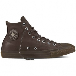 Кеды (Оригинал) Converse Chuck Taylor All Star Leather Thermal Высокие Темный Шоколад (Dark Chocolate)
