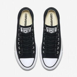Кеды (Оригинал) Converse Chuck Taylor All Star Lift Низкие Чёрные (Black)