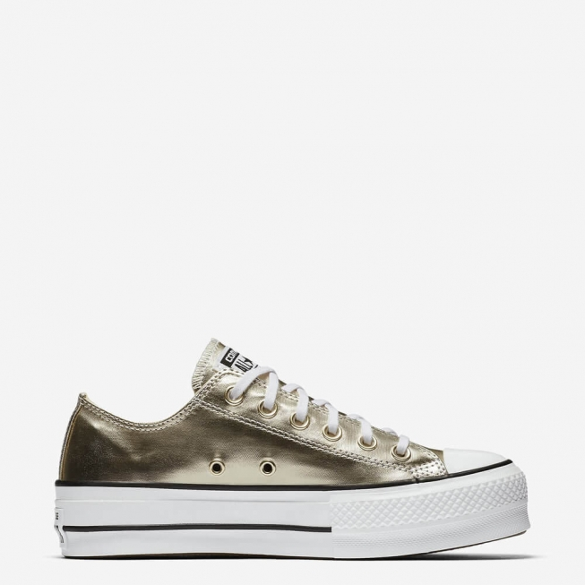 Кеды (Оригинал) Converse Chuck Taylor All Star Lift Низкие Золотые (Gold)