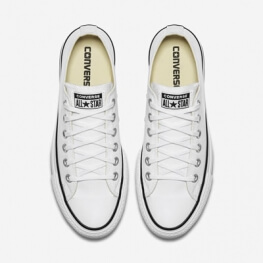 Кеды (Оригинал) Converse Chuck Taylor All Star Lift Низкие Белые (White)