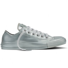 Кеды (Оригинал) Converse Chuck Taylor All Star Metallic Rubber Низкие Серебро (Silver)