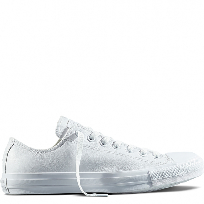 Кеды (Оригинал) Converse Chuck Taylor All Star Mono Leather Низкие Белые (White)