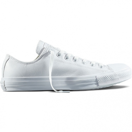 Кеды (Оригинал) Converse Chuck Taylor All Star Mono Leather Низкие Белые (White)