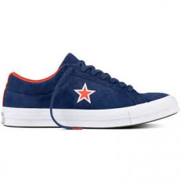 Кеды Converse One Star Синие Кожаные Конверсы