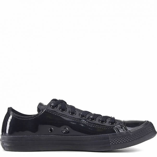 Кеды (Оригинал) Converse Chuck Taylor All Star Patent Ice Низкие Чёрные (Black)