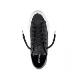 Кеды Converse ® Оригинал Чёрные Низкие — Женские Кожаные Конверсы — 157667C