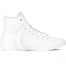 Кеды (Оригинал) Converse Chuck Taylor All Star Rubber  Высокие Белые (White)