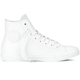 Кеды (Оригинал) Converse Chuck Taylor All Star Rubber  Высокие Белые (White)