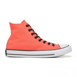 Кеды Converse All Star Высокие Женские Оранжевые Конверсы 153908F (Bright Crimson)