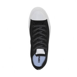 Кеды (Оригинал) Converse Chuck Taylor All Star Shield Canvas Низкие Чёрные (Black)