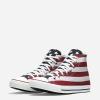 Кеды (Оригинал) Converse Chuck Taylor All Star Stars and Bars Высокие Красно-Белые (Red and White)