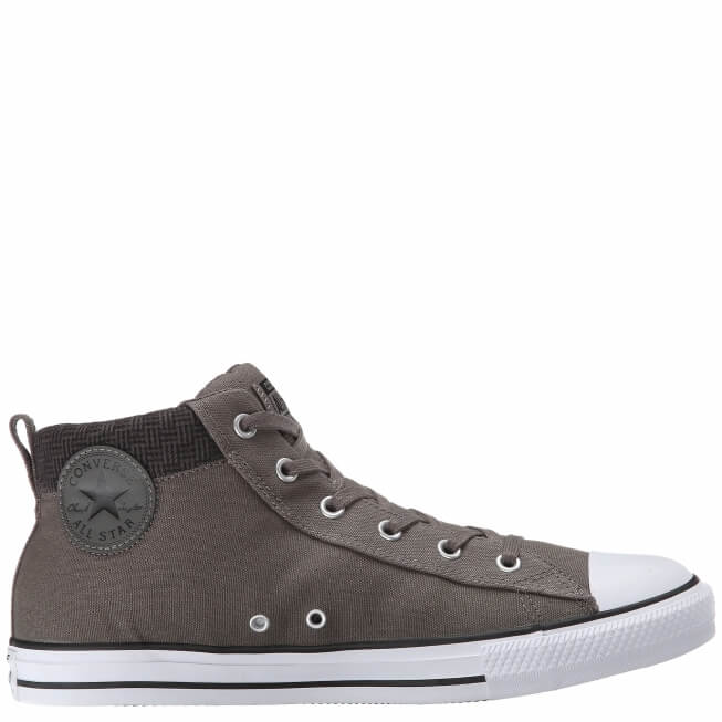 Кеды (Оригинал) Converse Chuck Taylor All Star Street Hi Charcoal Mid Top Серые (Grey)