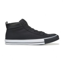 Кеды (Оригинал) Converse Chuck Taylor All Star Street Nylon Mid Top Чёрный (Black)