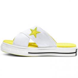 Шлёпанцы (Оригинал) Converse One Star Белые Замшевые Конверсы