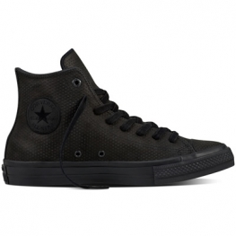 Кеды Converse ® All Star 2 Высокие Чёрные  — Женские Кожаные Конверсы — 155762C