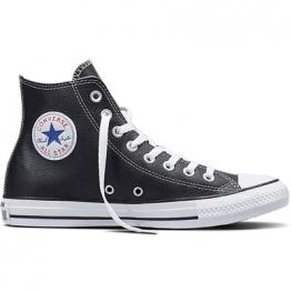 Кеды Converse ® Классические Чёрные Высокие — Женские Кожаные Конверсы — 132170C