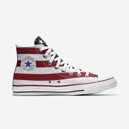 Кеды Converse ® Высокие Белые с Красным — Женские Конверсы — M8437C